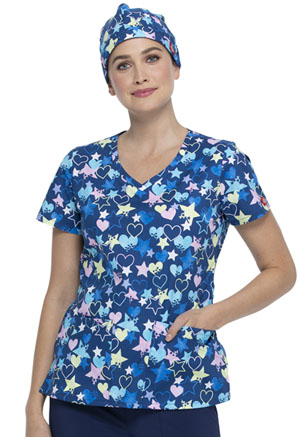 Dickies Prints Scrubs Hat in Starry Eyed Love (DK501-STYE)