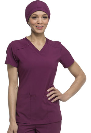 Dickies EDS Essentials Scrubs Hat in Wine (DK502-WNPS)