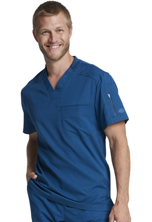 Dickies Dynamix Men's V-Neck Top in Caribbean Blue (DK610-CAR)