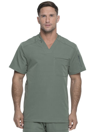 Dickies Dynamix Men's V-Neck Top in Olive (DK610-OLV)