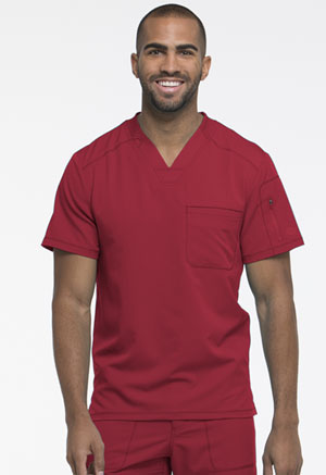 Dickies Dynamix Men's V-Neck Top in Red (DK610-RED)