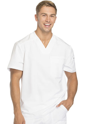 Dickies Dynamix Men's Tuckable V-Neck Top in White (DK610-WHT)