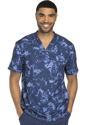 Dickies Men's V-Neck Top Distress Call Navy (DK611-DICN)