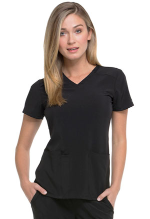 Dickies EDS Essentials V-Neck Top in Black (DK615-BAPS)
