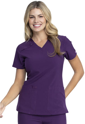 Dickies EDS Essentials V-Neck Top in Eggplant (DK615-EGG)