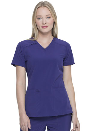 Dickies EDS Essentials V-Neck Top in Grape (DK615-GRP)