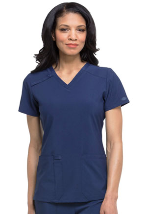 Dickies EDS Essentials V-Neck Top in Navy (DK615-NYPS)