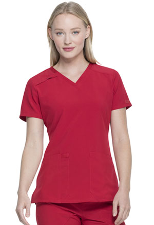 Every Day EDS Essentials V-Neck Top (DK615-RED) (DK615-RED)