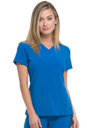Dickies EDS Essentials V-Neck Top in Royal (DK615-RYPS)