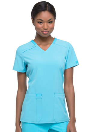 Dickies EDS Essentials V-Neck Top in Turquoise (DK615-TRQ)