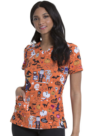Dickies V-Neck Print Top Stay Spooky (DK616-STYS)
