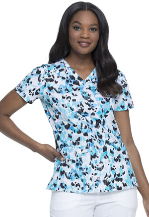 Dickies Prints V-Neck Top in Animal Instinct (DK617-AILI)
