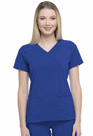 Dickies EDS Essentials Mock Wrap Top in Galaxy Blue (DK625-GAB)