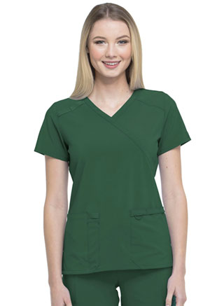 Dickies EDS Essentials Mock Wrap Top in Hunter Green (DK625-HNPS)