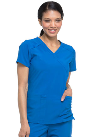 Dickies EDS Essentials Mock Wrap Top in Royal (DK625-RYPS)