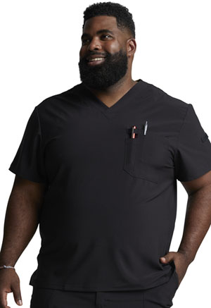 Dickies EDS Essentials Men's Tuckable V-Neck Top in Black (DK635-BAPS)