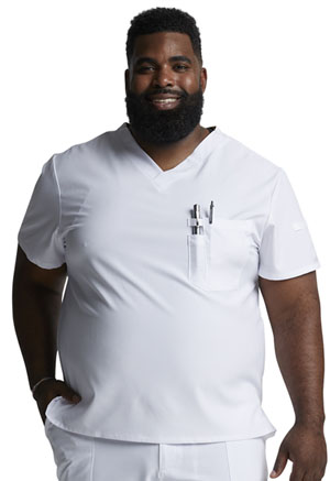 Dickies EDS Essentials Men's Tuckable V-Neck Top in White (DK635-WTPS)
