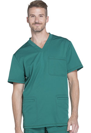 Dickies Dynamix Men's V-Neck Top in Hunter Green (DK640-HUN)