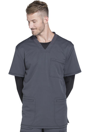 Dickies Dynamix Men's V-Neck Top in Pewter (DK640-PWT)