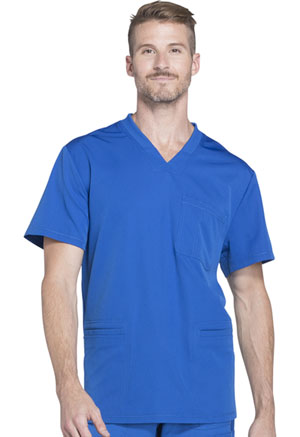 Dickies Dynamix Men's V-Neck Top in Royal (DK640-ROY)