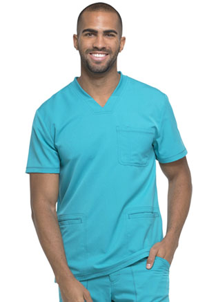 Dickies Dynamix Men's V-Neck Top in Teal Blue (DK640-TLB)