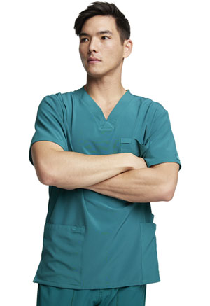 Dickies EDS Essentials Men's V-Neck Top in Hunter Green (DK645-HNPS)