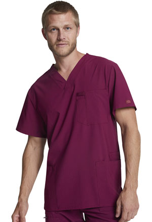 Dickies EDS Essentials Men's V-Neck Top in Wine (DK645-WNPS)