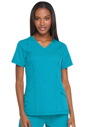 Dickies Dynamix Mock Wrap Top in Teal Blue (DK660-TLB)
