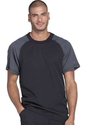Dickies Dynamix Men's Crew Neck Top in Black (DK670-BLK)