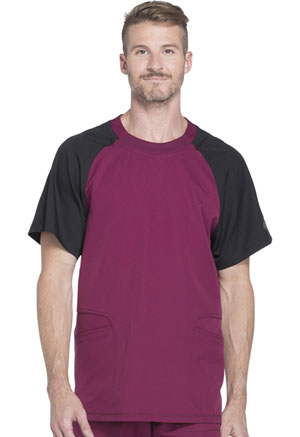 Dickies Dynamix Men's Crew Neck Top in Wine (DK670-WIN)