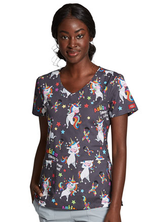 Dickies Prints V-Neck Top in A Different Beat (DK700-ABET)