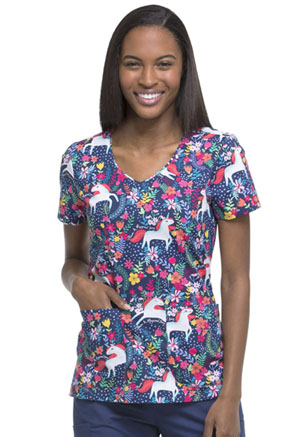 Dickies Dickies Prints Women's V-Neck Top Have A Magical Day
