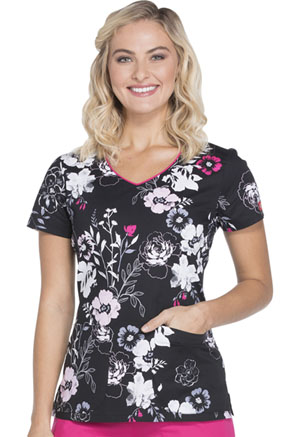 Dickies V-Neck Top Petal Persuasion (DK700-PTPS)