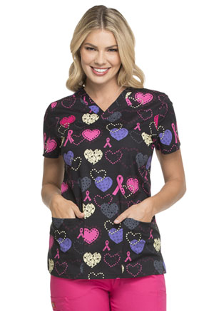 Dickies Prints V-Neck Top in Cosmic Caring (DK704-COCA)