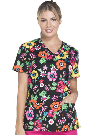 Dickies V-Neck Top Flower Festival (DK708-FWFS)