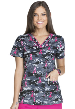 Dickies V-Neck Top Fight For The Cure (DK709-FICR)