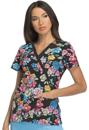 Dickies Mock Wrap Top Beauty Blooms (DK714-BTYB)