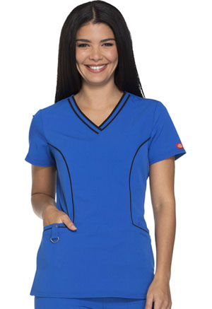 Dickies Xtreme Stretch V-Neck Top in Royal (DK715-RYLZ)