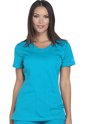 Dickies Rounded V-Neck Top Blue Ice (DK720-BLCE)