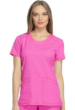 Dickies Rounded V-Neck Top Cosmic Pink (DK720-COPK)