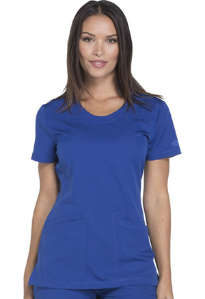 Dickies Dynamix Rounded V-Neck Top in Galaxy Blue (DK720-GAB)