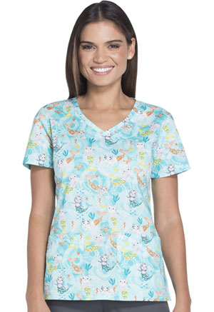 Dickies Dickies Prints Women's V-Neck Top Purr-maids