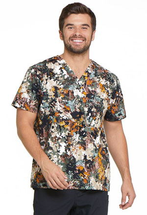 Dickies Prints Men's V-Neck Top in Great Outdoors (DK725-GROT)