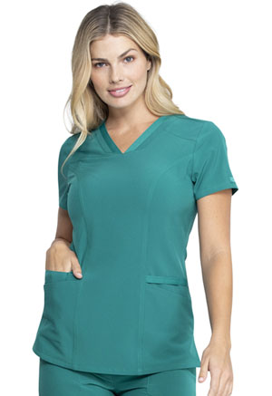 Dickies EDS Essentials V-Neck Top in Hunter Green (DK735-HNPS)