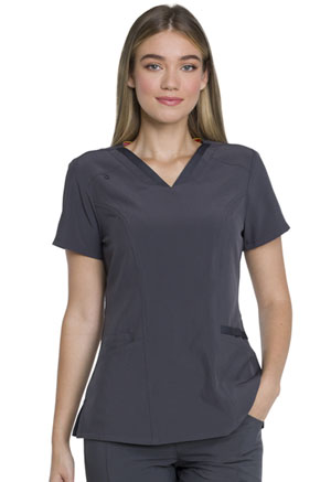 Dickies EDS Essentials V-Neck Top in Pewter (DK735-PWPS)