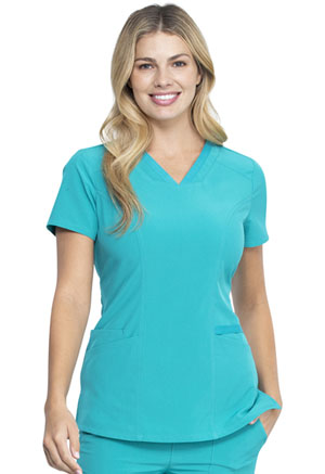 Dickies EDS Essentials V-Neck Top in Teal Blue (DK735-TLPS)