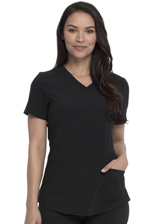 Dickies Retro Mock Wrap Top in Black (DK780-BLK)