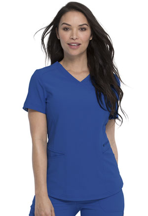 Dickies Retro Mock Wrap Top in Royal (DK780-ROY)