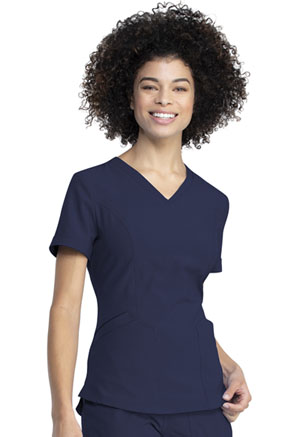Dickies Retro V-Neck Top in Navy (DK790-NAV)
