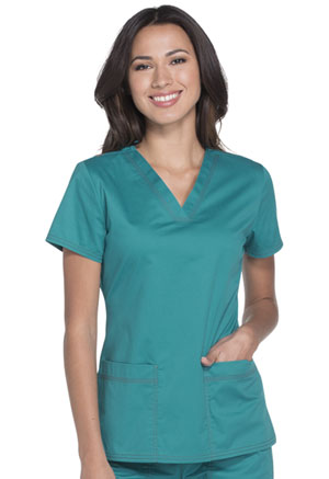 Dickies Gen Flex V-Neck Top in Teal (DK800-DTLZ)